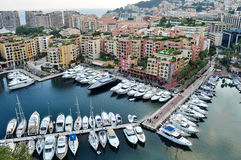 Landscape, top view  monte carlo france Royalty Free Stock Images
