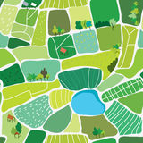 Landscape top view seamless pattern Stock Photos