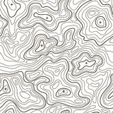 Landscape Topographical Map Line Background. Vector Royalty Free Stock Photography