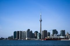 Landscape with  toronto skyline Stock Images