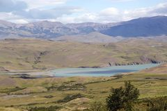 Landscape at the Torres del Paine National Park, Chilean Patagonia, Chile stock photography