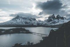 Landscape torres del paine stock photo