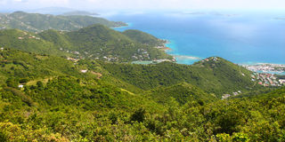 Landscape of Tortola - BVI Royalty Free Stock Images