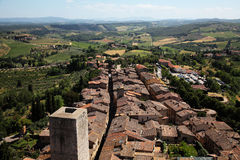 Landscape in toscana Stock Photo