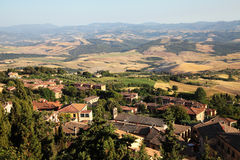 Landscape in toscana Stock Image