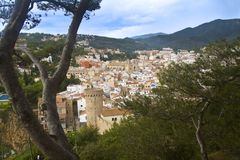 Landscape of Tossa de Mar Royalty Free Stock Image