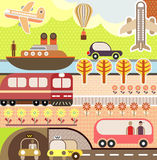 Landscape - Tourism And Travel Illustration Stock Photos
