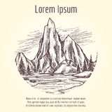 Landscape tourist banner design Stock Image