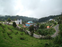 Landscape of tourist hill station kodaikanal india Royalty Free Stock Photos