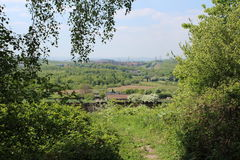 Landscape towards Sheffield through trees Stock Image
