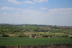 Landscape towards Sheffield from Treeton. Royalty Free Stock Image