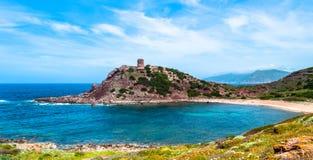 Landscape of tower of porticciolo. In spring, alghero, sardinia Royalty Free Stock Photo