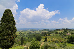 The landscape  in a town,italy Royalty Free Stock Photography