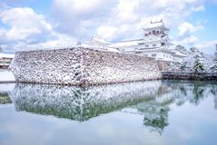 Landscape of Toyama Castle in the winter royalty free stock images