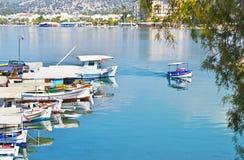 Landscape of Eretria Euboea Greece Stock Image