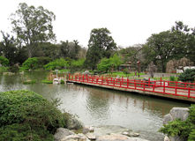Landscape in a traditional Japanese garden Stock Photo