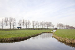 Landscape and traffic in holland Stock Photography
