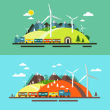 Landscape with Train. royalty free illustration