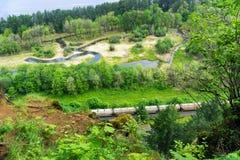 Landscape and Train Stock Photo