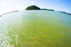 Landscape of tranquil island beach Royalty Free Stock Photography