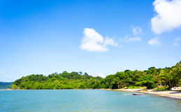 Landscape of tranquil island beach Royalty Free Stock Photo