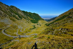 Landscape with Transfagarasan road from Romania. Stock Photos