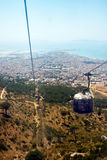 Landscape of Trapani city from the cableway of Erice. Sicily, Italy. Stock Photos