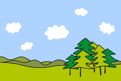 Landscape with trees Royalty Free Stock Photos