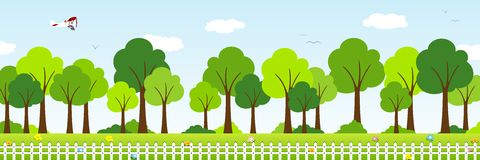 Landscape with trees Stock Photography