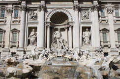 Landscape of Trevi Fountain Royalty Free Stock Image