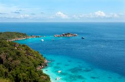 Landscape in the tropical bay Stock Image