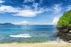 Tropical beach.  Bali island, Indonesia Royalty Free Stock Images