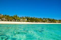 Landscape of tropical beach, Mauritius island Stock Photo