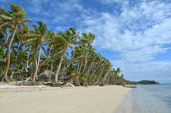 Landscape of a tropical beach resort in Fiji Royalty Free Stock Photos