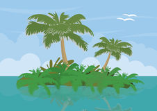 Landscape with tropical island Stock Image