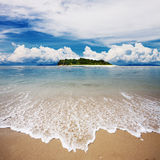 Landscape of tropical island beach Royalty Free Stock Photos