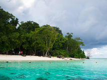 Landscape of tropical island beach Royalty Free Stock Photography