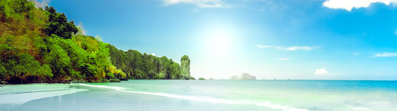 Landscape of tropical island Royalty Free Stock Photos