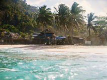 Landscape of tropical island Royalty Free Stock Image