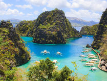 Landscape of tropical island. Coron island. Philippines. On a tropical island. Coron island. Philippines Stock Photo