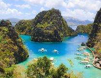 Landscape of tropical island. Coron island. Philippines. On a tropical island. Coron island. Philippines Stock Photo
