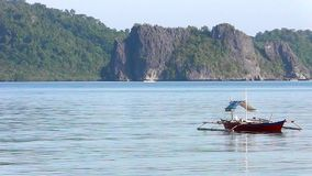 Landscape of tropical island. Philippines. On a tropical island. Palawan island. Philippines stock footage