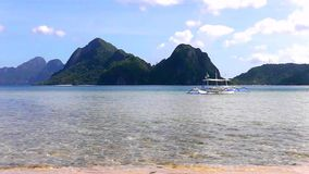 Landscape of tropical island. Philippines. On a tropical island. Palawan island. Philippines stock video footage