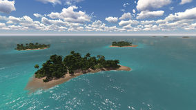 Landscape of tropical islands Royalty Free Stock Photo