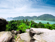 Tropical landscape. Phi-phi island, Thailand Royalty Free Stock Images