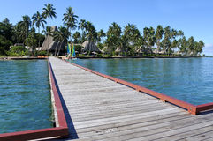 Landscape of a tropical resort in Fiji Stock Image