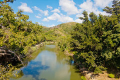 Landscape with tropical river Stock Photos