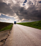 Landscape for truck on road Stock Photography