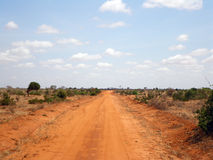 Landscape in Tsavo park Royalty Free Stock Photography