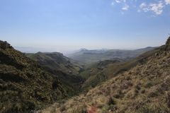 Landscape on the Tugela Falls hike, Drakensberg Mountains, South Africa Royalty Free Stock Photography